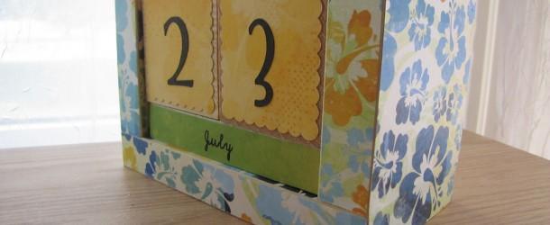 Handmade Perpetual Calendar