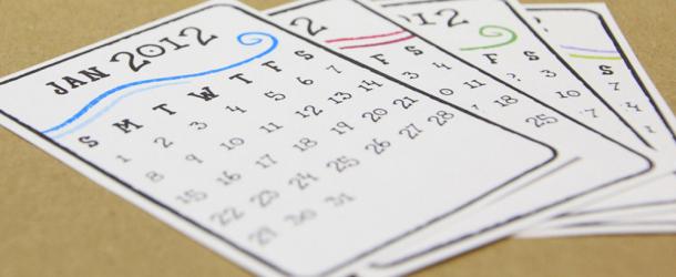 Handmade Calendar 2012