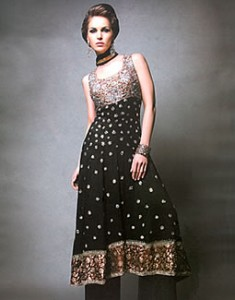 Black Cosma 235x300 Pakistani Party Wear / Dress