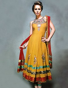 Gold Poppy Cosma 235x300 Pakistani Party Wear / Dress