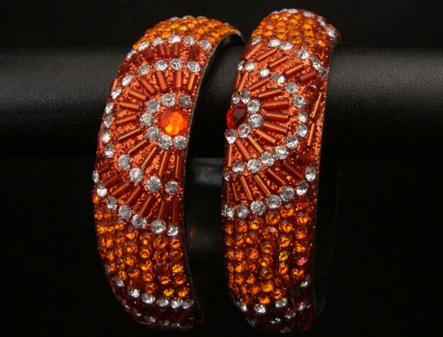 Handmade Gems and Beads Bangles