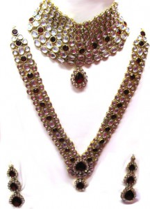 Handmade Kundan bridal jewelry 216x300 Indian handmade Kundan bridal jewelry