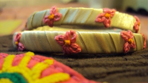 Handmade Ribbon Bangles