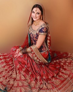 Handmade red bridal wear