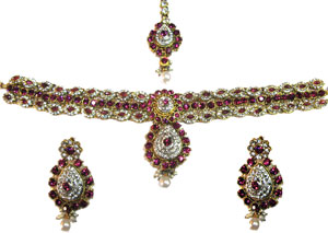 Indian Kundan bridal set Indian handmade Kundan bridal jewelry