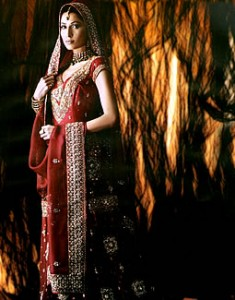 Maroon Nimbus - bridal dress