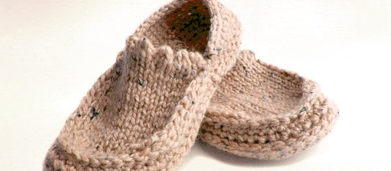 Handmade Knit Crochet Slippers