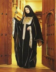 Arabian style abaya 235x300 Latest handmade Abaya trend