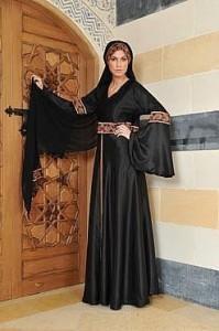 Black silk abaya 199x300 Latest handmade Abaya trend
