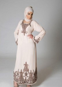White Abaya Dress 215x300 Latest handmade Abaya trend
