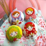 Colorful Handcrafted Fabric Buttons