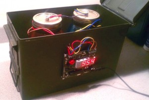 Defusable Clock bolted to 50 Caliber Ammunition Case