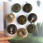 Floral Flower Vintage Style Handcrafted Cloth Fabric Buttons
