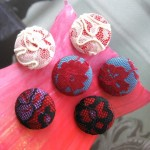 Floral Lace Handmade Fabric Cloth Buttons
