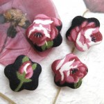 Handcrafted Flower Shape Fabric Buttons