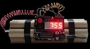 Old Movies Dynamite Time Bomb Alarm Clock