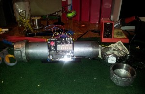 Pipe Bomb Alarm Clock with Secret Vault