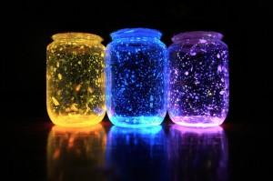 Three colored glowing jars 300x199 How to make Glowing Jar