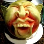 Carved Watermelon Humpty Dumpty