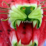 Carved Watermelon Lion