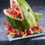 Carved Watermelon Shark