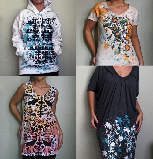 Special skills to make handmade clothing for catwalk for Paint on clothes