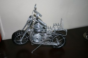 Motorbike Made from Wires