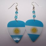 Support and Wear Argentina Team Flag Earrings