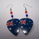 Support and Wear Australian Team Flag Earrings