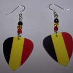 Support and Wear Belgium Team Flag Earrings
