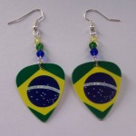 Support and Wear Brazilian Team Flag Earrings