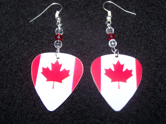 Support And Wear Canadian Team Flag Earrings