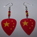 Support and Wear China Team Flag Earrings