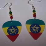 Support and Wear Ethiopian Team Flag Earrings