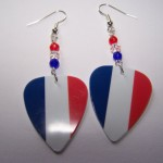 Support and Wear French Team Flag Earrings