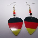 Support and Wear German Team Flag Earrings