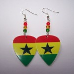 Support and Wear Ghana Team Flag Earrings