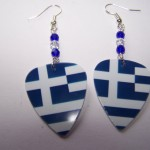Support and Wear Greece Team Flag Earrings