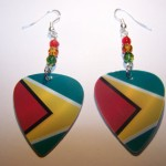 Support and Wear Guyana Team Flag Earrings
