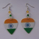 Support and Wear Indian Team Flag Earrings