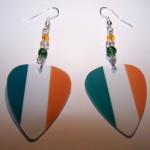 Support and Wear Ireland Team Flag Earrings