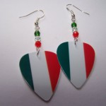 Support and Wear Italian Team Flag Earrings