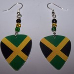Support and Wear Jamaica Team Flag Earrings