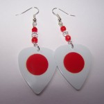 Support and Wear Japanies Team Flag Earrings