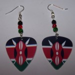 Support and Wear Kenya Team Flag Earrings
