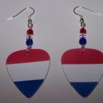 Support and Wear Luxembourg Team Flag Earrings