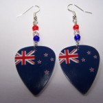 Support and Wear New Zealand Team Flag Earrings