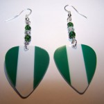 Support and Wear Nigerian Team Flag Earrings