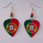 Support and Wear Portugal Team Flag Earrings