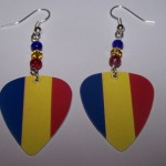 Support and Wear Romanian Team Flag Earrings